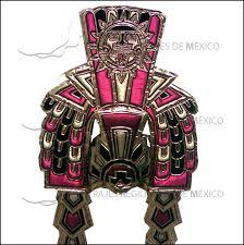 imagenes penachos aztecas penacho azteca tipo moctezuma en rosa con dorado y negro aztec