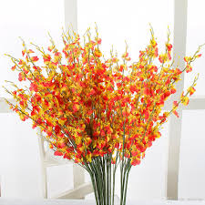 2017 upscale artificial flower butterfly orchid with table flower