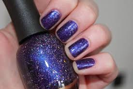 manicure monday purple xing gingerbread smiles