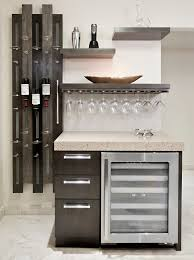 Decorating A Bakers Rack Ideas Bakers Rack Decor Kitchen Contemporary With Wine Cooler Home Bar