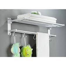 19 7 inch stainless steel bath towel rack bathroom shelf with