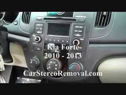 how to kia forte car stereo radio cd removal 2010 2013 replace