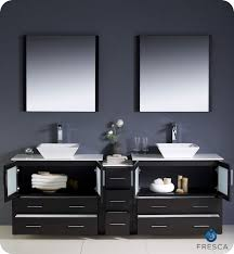 Bathroom Vanity With Side Cabinet Fresca Torino 84