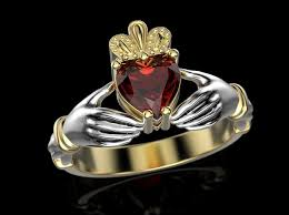 the claddagh ring 3d printable model claddagh ring cgtrader
