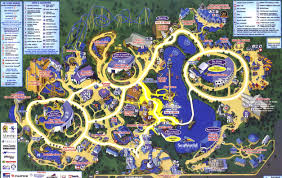 Orlando Fl Map by Theme Park Page Park Map Archive