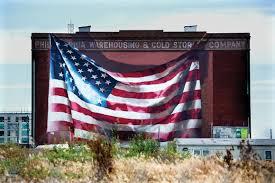 Flag Of Philadelphia All Politics Is Local Philadelphia U0027s Sky High Political Murals