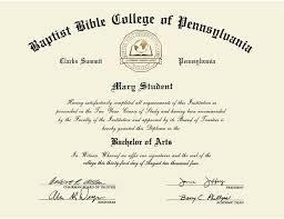 Bible College Acceptance Letter baptist bible college and seminary gold embossed diploma frame in