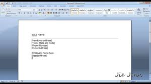 Make A Cover Letter How To Create A Cover Letter Template In Word Youtube
