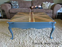 Stained Coffee Table Union Jack Coffee Table With A Twist Domestic Imperfection