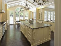 elegant french country style kitchen with cream color rectangle