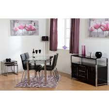 charisma high gloss sideboard in black u2013 next day delivery