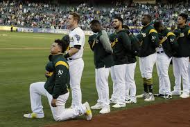 The National by A U0027s Catcher Is First Mlb Player To Kneel For The National Anthem