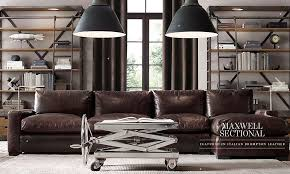 restoration hardware maxwell leather sofa restoration hardware sectional sofa and maxwell leather sectionals