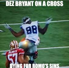 Dez Bryant Memes - 22 meme internet dez bryant on a cross dying for romo s sins