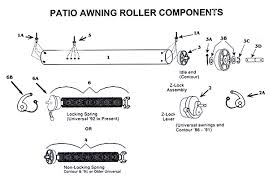 Camper Awning Parts Zip Dee Patio Awning Roller And Case With All Parts