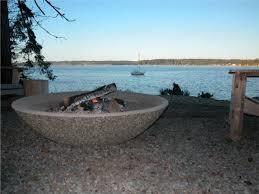 Large Firepits Concrete Bowl Pit Pit Ideas