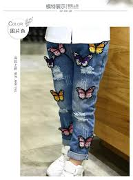 girls loose casual jeans 2016 new spring children u0027s clothing hole
