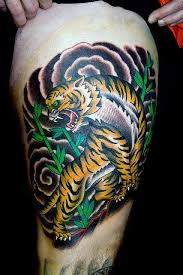 japanese tiger on right thigh