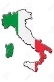 Italy Flag Images Outline Map Of Italy Covered In Italian Flag Stock Photo Picture