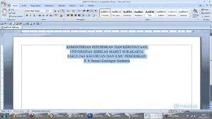 membuat kop surat organisasi cara membuat kop surat dengan ms word 2007 youtube
