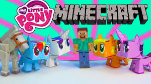 my little pony boxos paper craft style minecraft figures steve