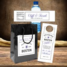 wedding hotel bags 20 boston wedding welcome bag labels custom stickers hotel