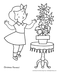 christmas decorations coloring pages christmas poinsettia