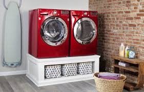 Samsung Blue Washer And Dryer Pedestal How To Build A Laundry Pedestal This Old House