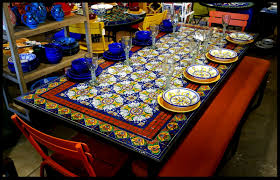 tile table top design ideas mexican tile dining table dining room ideas