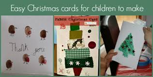 easy kid made christmas cards mum in the madhouse