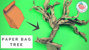 Halloween Brown Paper Bag Crafts Paper Bag Tree How To Make A Paper Tree From A Brown Lunch Bag