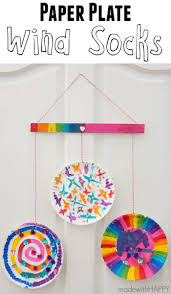 paper plate wind socks paper plate crafts kid activities and socks