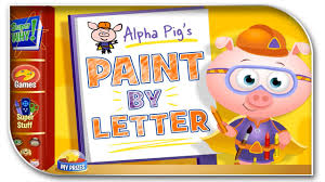 pbs kids alpha pig s paint by letter best free baby games for kids