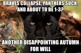 Panthers Suck Meme - braves collapse panthers suck and about to be 1 3 another