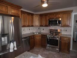 kitchen gallery pg4 cabinets red oak granite golden king