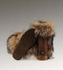 womens ugg boots chestnut 48 best ugg fox fur boots images on fox fur fur