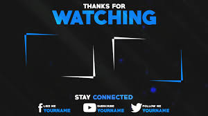 free clean 2d outro template photoshop youtube