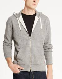 levi u0027s retro 70s mens original hoodie sweater in grey