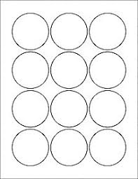 1 Inch Circle Template by 6 Sheets 72 2 1 4 Circle White Stickers For