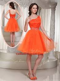 one shoulder beading short juniors cocktail dress for party