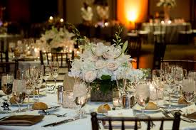 delightful picture of white wedding design and decoration using