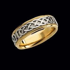 celtic wedding bands two tone wedding band