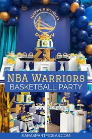 basketball party table decorations kara s party ideas nba warriors basketball party kara s party ideas