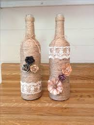 Wine Bottle Home Decor Upcycle Your Old Wine Bottles Into Beauty Shabby Chic Decor For