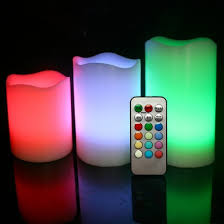 real wax colour changing led candles