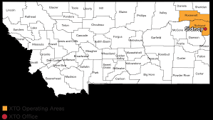 Montana Counties Map by Montana Operating Facts Xto Energy