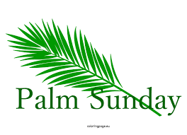 easter palm sunday clipart coloring page