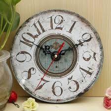 vintage digital wall clock rustic shabby chic acrylic fashion