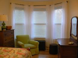How To Hang Curtains On A Bay Window Interior And Exterior Awesome Bay Window Curtain Rod Ideas For