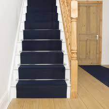 dark blue stair runner plain